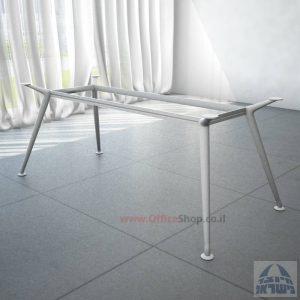 רגל מתכת לשולחן ישיבות דגם SPIDER בצבע כסף