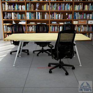 שולחן ישיבות מעוצב דגם Spider רגל כסופה