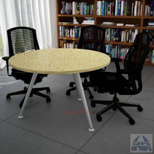 שולחן ישיבות עגול דגם Spider רגל כסופה