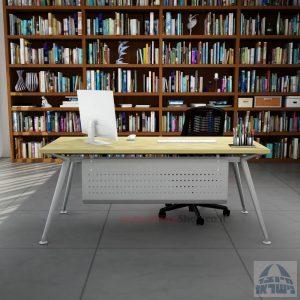 שולחן מנהלים מעוצב Spider רגל כסופה כולל מיסתור מתכת