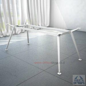 רגל מתכת לשולחן ישיבות דגם SPIDER בצבע לבן