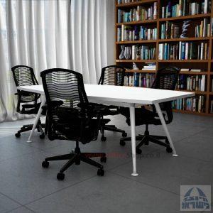 שולחן ישיבות מעוצב דגם Spider רגל לבנה