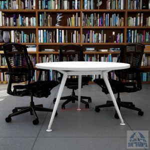 שולחן ישיבות עגול דגם Spider רגל לבנה