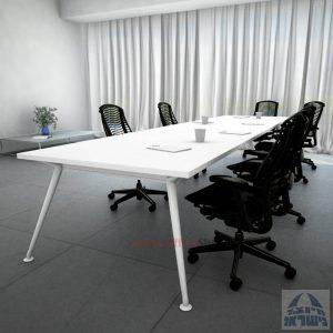 שולחן ישיבות מעוצב דגם Spider כפול רגל לבנה