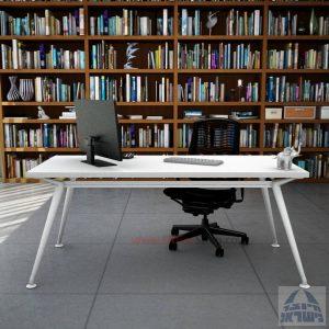 שולחן מנהלים מעוצב Spider ללא מיסתור רגל לבנה