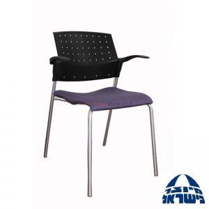 כסא אורח פלסטיק עם מושב מרופד – דגם POLO