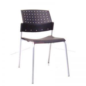 כסא אורח פלסטיק עם שלד כסוף – דגם POLO