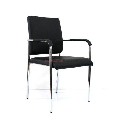 כסא אורח ALON בריפוד PU שחור