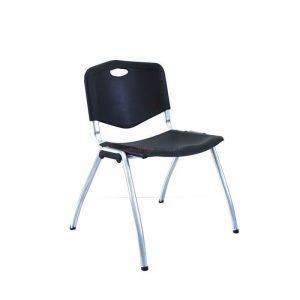 כסא אורח פלסטיק עם שלד כסוף – דגם ויק