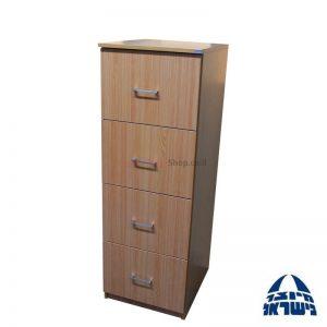 ארון תיקיות משרדי 4 מגירות עץ