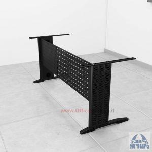 קיט רגלי מתכת לשולחן כתיבה משרדי Alfa בצבע שחור