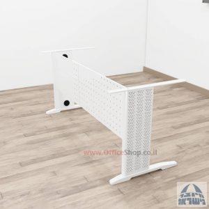 קיט רגלי מתכת לשולחן כתיבה משרדי Alfa בצבע לבן