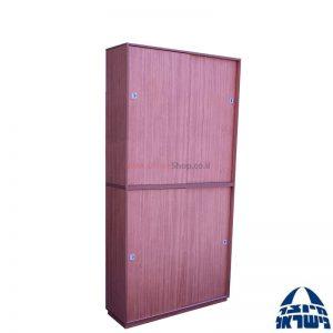 """ארון ארכיב משרדי דו קומתי דלתות הזזה – גובה 240 ס""""מ"""