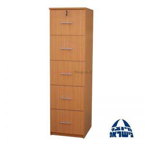ארון תיקיות משרדי 5 מגירות עץ