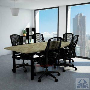 שולחן דיונים יוקרתי דגם ROTEM רגל שחורה