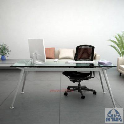 שולחן מנהלים יוקרתי דגם Spider Glass בהתאמה אישית