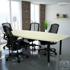 שולחן דיונים יוקרתי דגם TOMER רגל שחורה
