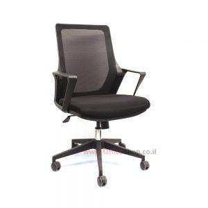 כסא מנהלים שחור דגם SADAN מבד רשת איכותי