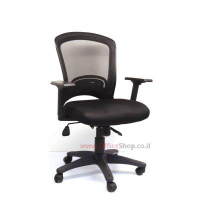 Perfect כסא מחשב שחור – גב רשת