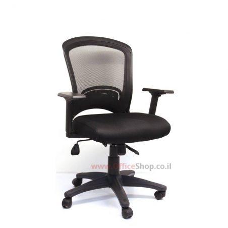 Perfect כסא מחשב שחור - גב רשת