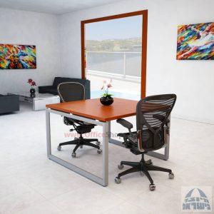 שולחן ישיבות מרובע דגם Diamond רגל כסופה