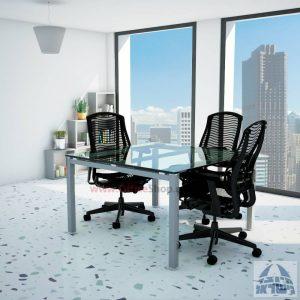 שולחן ישיבות זכוכית מרובע ויוקרתי דגם  Rotem Glass  בהתאמה אישית