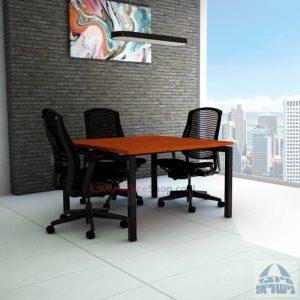 שולחן ישיבות מרובע דגם Sapir רגל שחורה