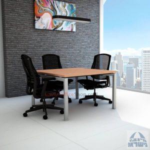 שולחן ישיבות מרובע דגם Sapir רגל כסופה