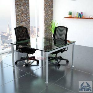שולחן ישיבות זכוכית מרובע ויוקרתי דגם  Tomer Glass  בהתאמה אישית