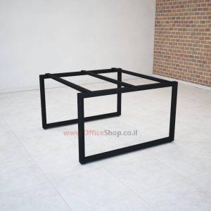 רגלי מתכת טלסקופיותלשולחן ישיבות Diamond בצבע שחור