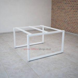רגלי מתכת טלסקופיותלשולחן ישיבות Diamond בצבע לבן