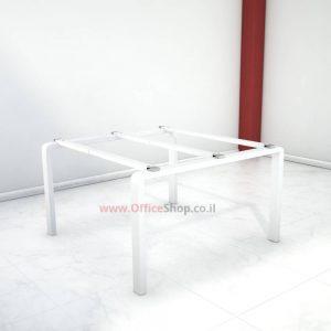 קיט רגלי מתכת טלסקופיותלשולחן ישיבות משרדיMORO בצבע לבן