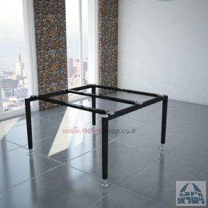 רגלי מתכת טלסקופיותלשולחן ישיבות משרדי Tomer בצבע שחור