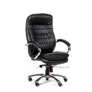 כסא מנהלים מפואר דגם מנהטן ניקל בריפוד PU משובח