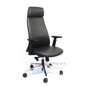 כסא מנהלים יוקרתי דגם ALON גבוה בריפוד PU שחור