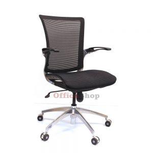 כסא מנהלים מפואר דגם GALAXY בריפוד רשת שחורה