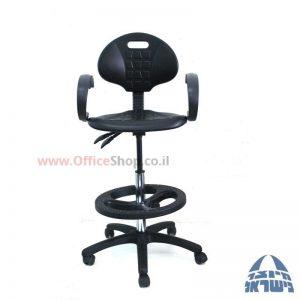 כסא מעבדה מקצועי דגם מיקה M2 כולל ידיות סהר