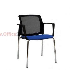 כסא אורח גב רשת – דגם LOGANO + ידיות