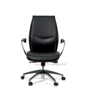 כסא מנהלים יוקרתי דגם POLO גב בינוני בריפוד PU
