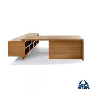 שולחן עבודה ארגונומי דגם Sheraton + מגירות וארונית