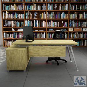 שולחן מנהלים פינתי דגם Spider רגל כסופה