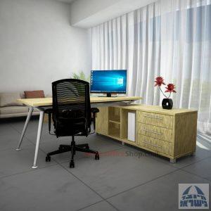 שולחן מנהלים מודרני פינתי דגם Spider במבחר צבעים ומידות