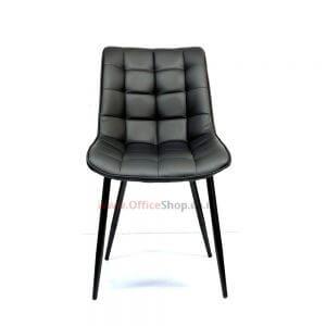 כסא אורח RILEX בריפוד דמוי עור שחור