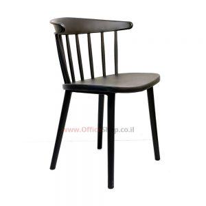 כסא אורח דגם קלאסיק פלסטיק שחור או צהוב